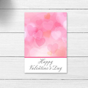 pink bokeh valentine's day valentine romatic heart cookie cards card large gift tags note cards classroom teacher party kids valentine craft projects
