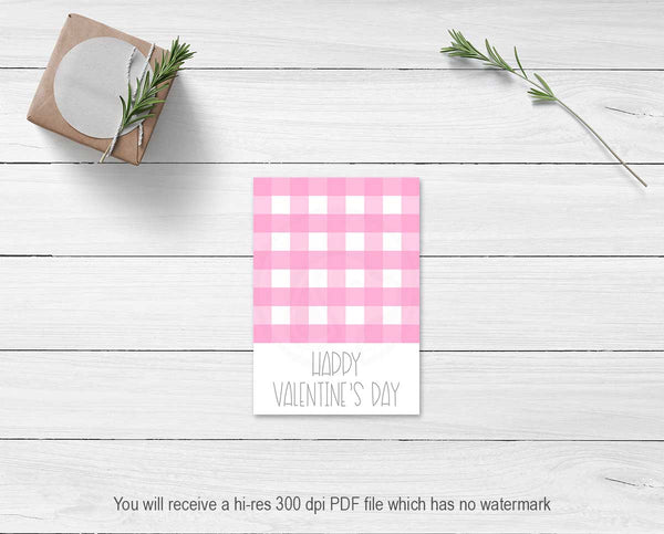 gingham cookie cards large gift tags printables valentines day