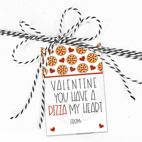 valentines day pizza my heart pizza party gift tags treat candy cookie bag topper birthday party instant download printables kid's fun craft project supplies