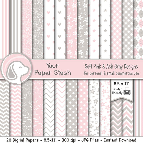 printable baby shower digital scrapbook paper