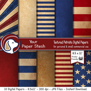 patriotic printable digital scrapbook paper backgrounds stars stripes americana usa make america great again