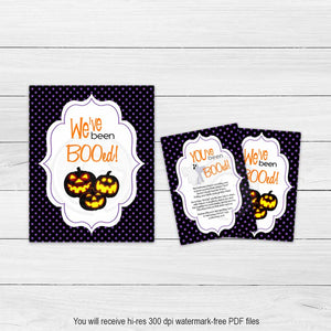 printable halloween we've been booed sign boo game kids party