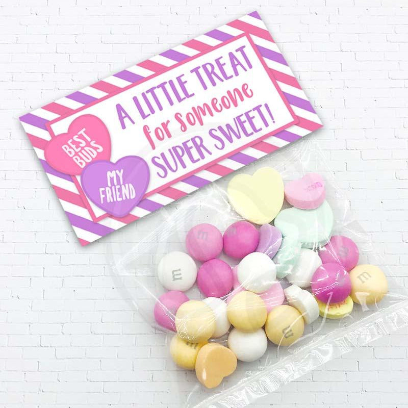 valentine treat candy favor cookie bag topper classroom party decorations decor printables supplies instant download your paper stash