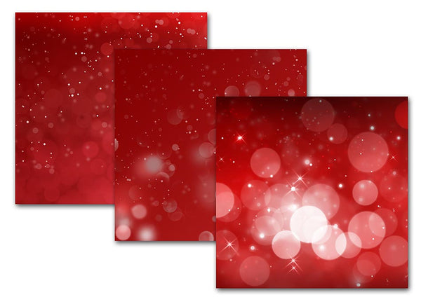 Red And Pink Bokeh Digital Scrapbook Paper Backgrounds
