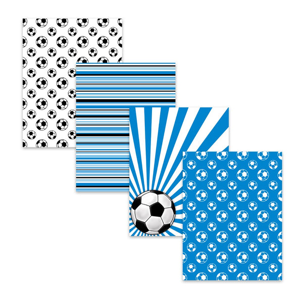 "8.5x11"" Soccer Football Sports Digital Scrapbook Papers"