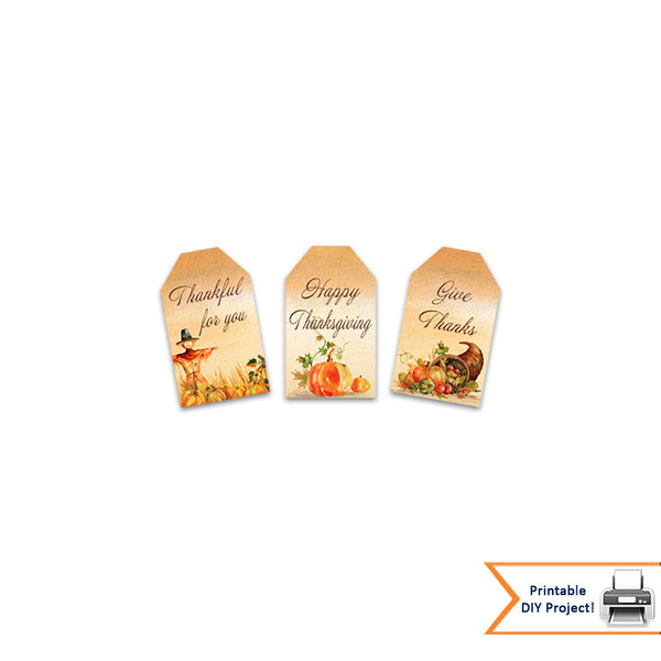 Autumn Watercolor Gift Tags for Thanksgiving And Fall Events