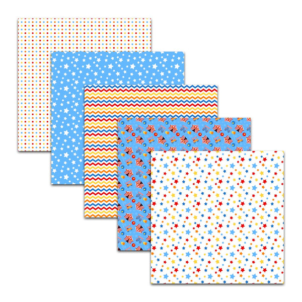 circus big top tent digital paper pack backgrounds scrapbooking stars polka dots red blue