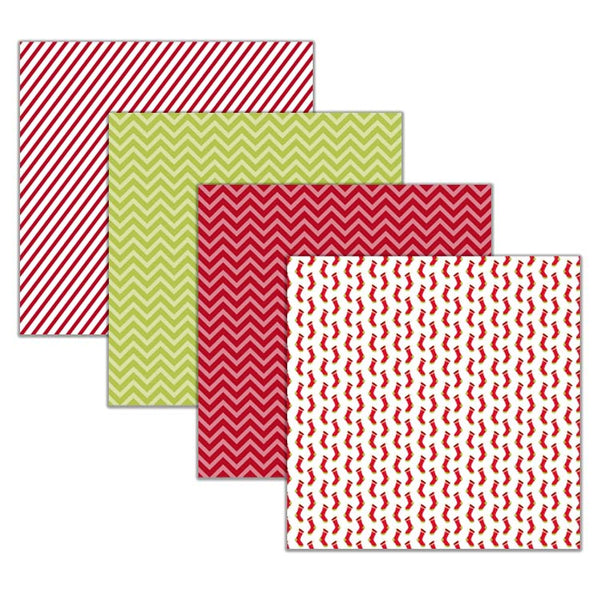 red and green digital paper pack