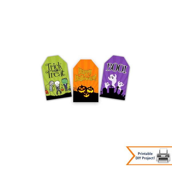 Printable Halloween Gift Tags for Halloween Parties and Favor Bags
