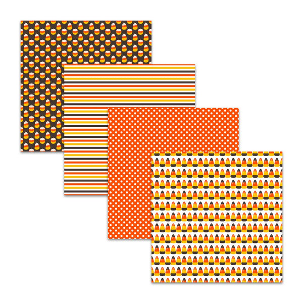 Candy Corn Digital Paper Pack for Halloween & Thanksgiving