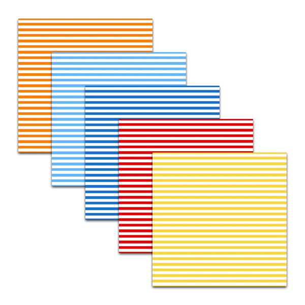 red yellow blue orange stripe digital paper scrapbooking stationery