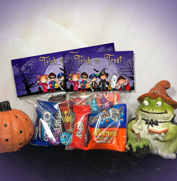 Trick or Treat Halloween Printable Treat and Candy Bag Toppers