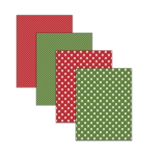 "8.5x11"" Christmas & Holiday Digital Scrapbooking Papers & Backgrounds"