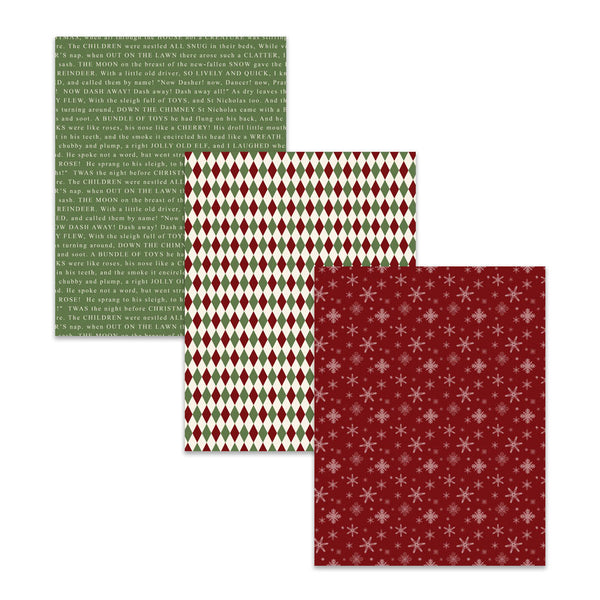8.5x11 Traditional Christmas Digital Scrapbooking Paper