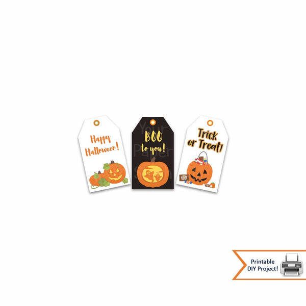printable halloween gift tags party decorations pumpkins candy jack o lantern instant download