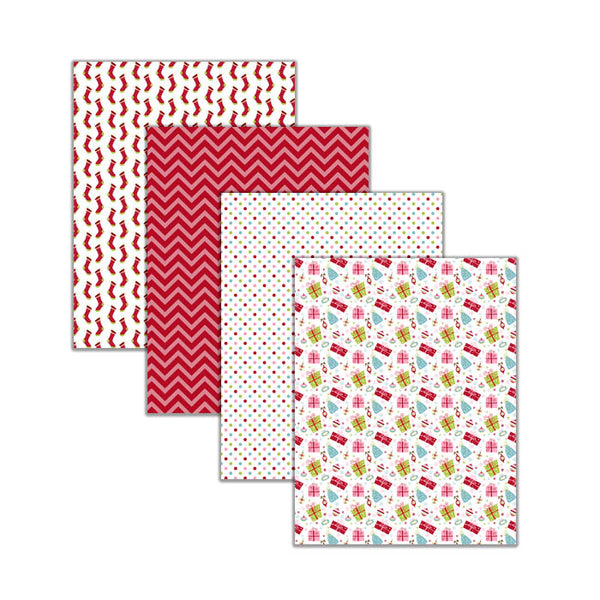 christmas scrapbook paper stationery