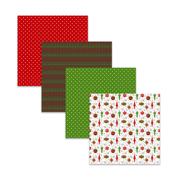 Traditional Red & Green Christmas Digital Scrapbook Paper
