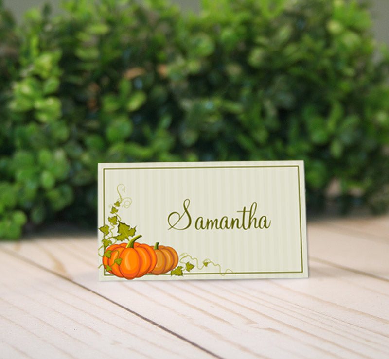 thanksgiving autumn place tent cards