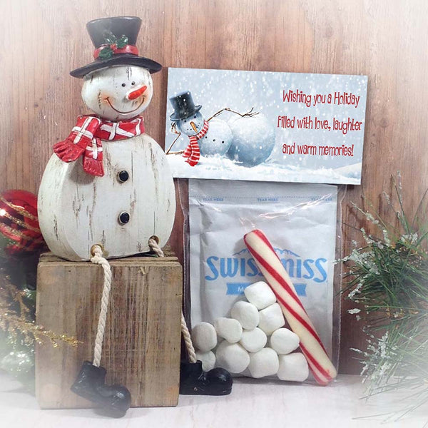 Printable Snowman Bag Toppers, Christmas & Holiday Treat Bag Toppers