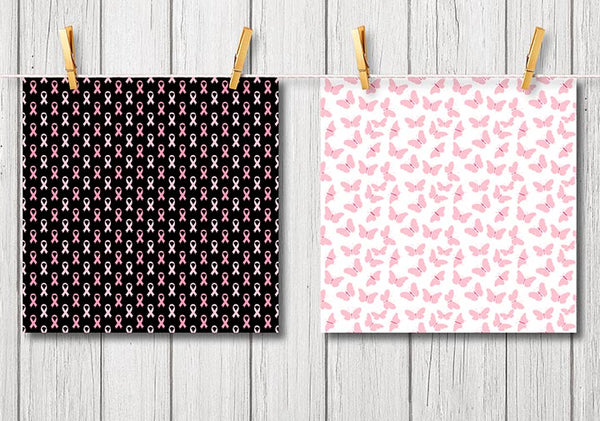 Breast Cancer Awareness Digital Papers and Backgrounds