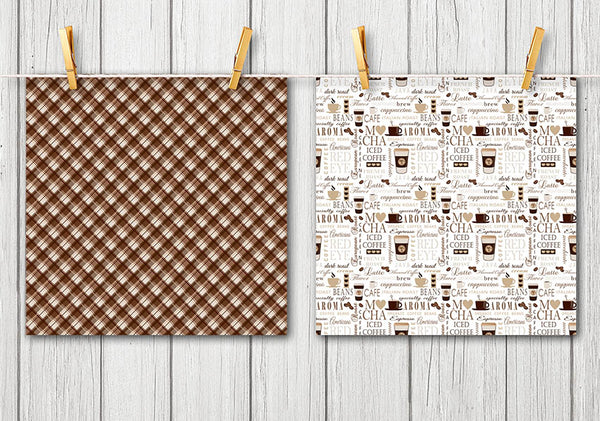 coffe collage sheet