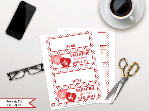 valentine's day printable candy bag toppers