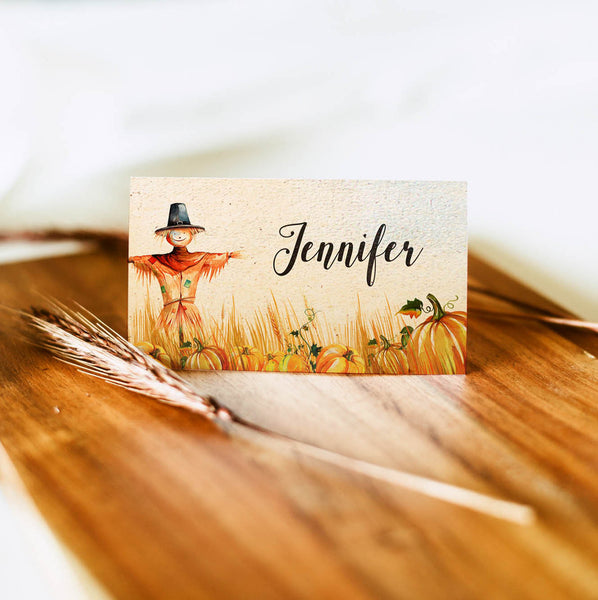 autumn thanksgiving place and tent cards