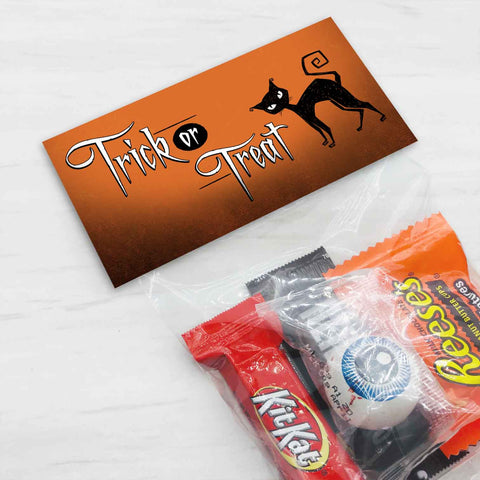 halloween black cat treat candy goody bag toppers printable kids craft projects classroom party ideas