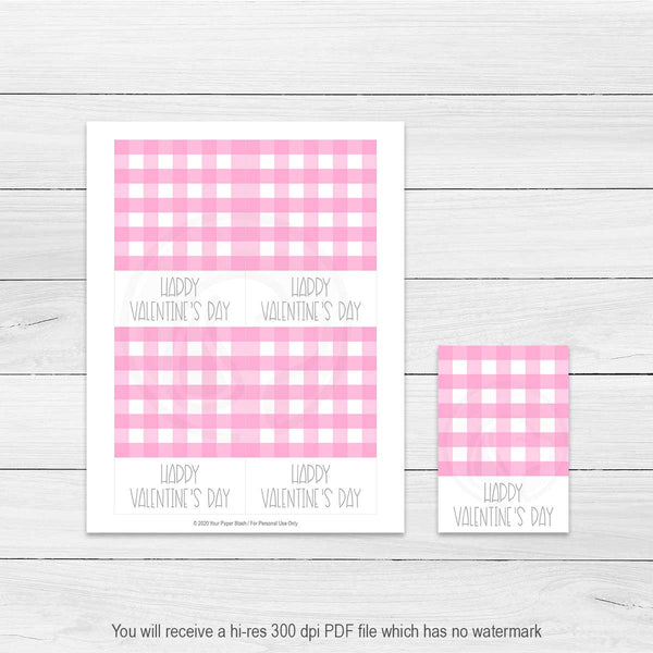 printable valentines day card cookie cards large gift tags note cards party decorations decor party favors instant download