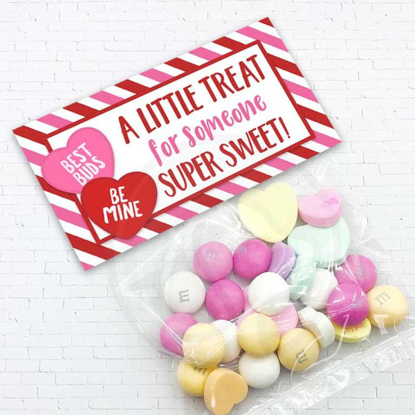 valentine treat candy goody bag topper treat for someone sweet classroom party bags instant download kids valentine ideas crafts supplies galentine