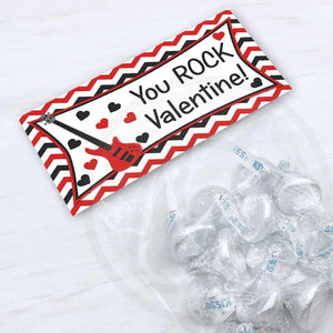 printable valentine you rock treat candy bag topper card exchange kids valentine's day printables instant download diy kids crafts