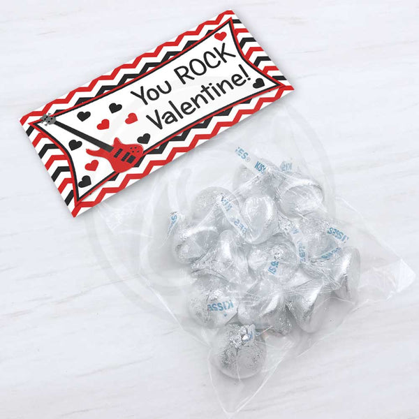 Valentine You Rock Printable Treat and Candy Bag Topper