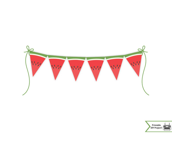 printable banner bunting for summer birthday party picnic family reunion decorations