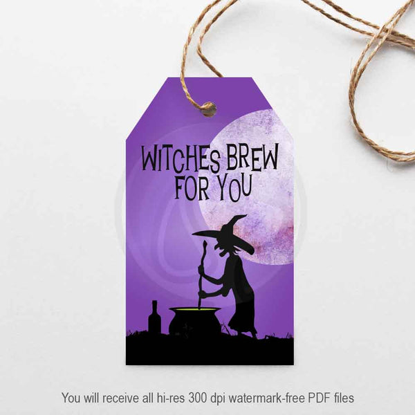 witches brew halloween printable gift tag party supplies decor paper craft card making scrapbooking supplies