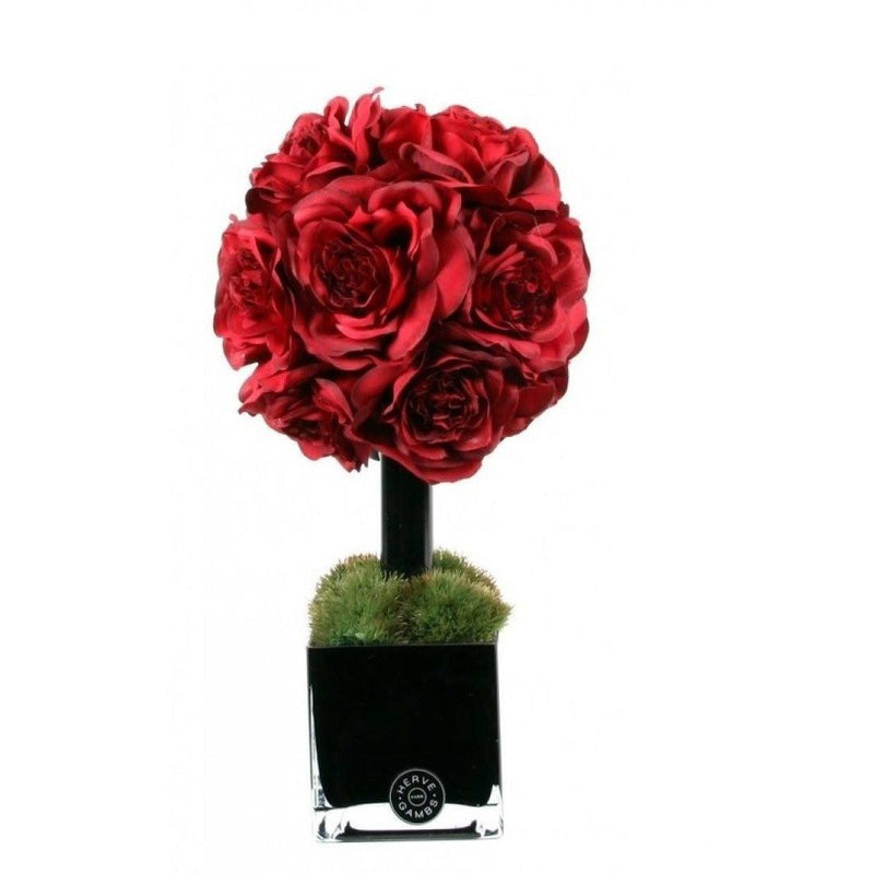 Red Couture Rose Topiary - Scent City