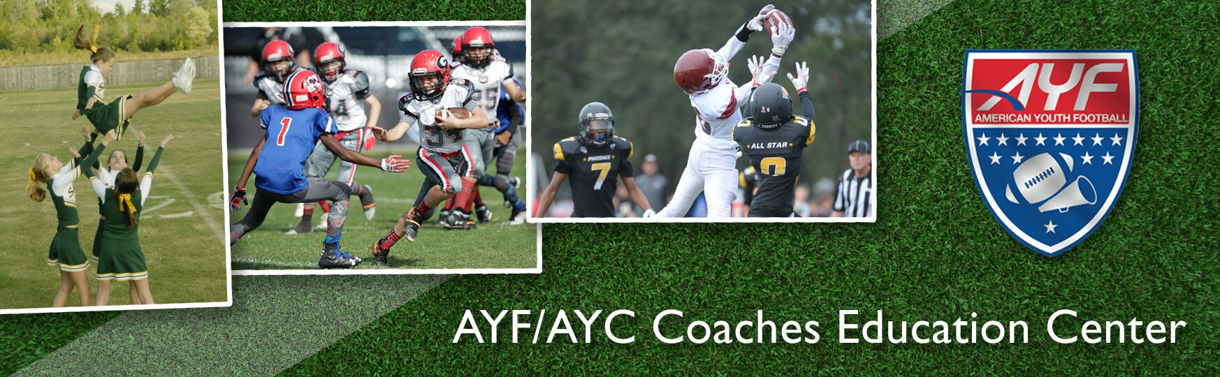 American Youth Football & Cheerleading Coaching Banner