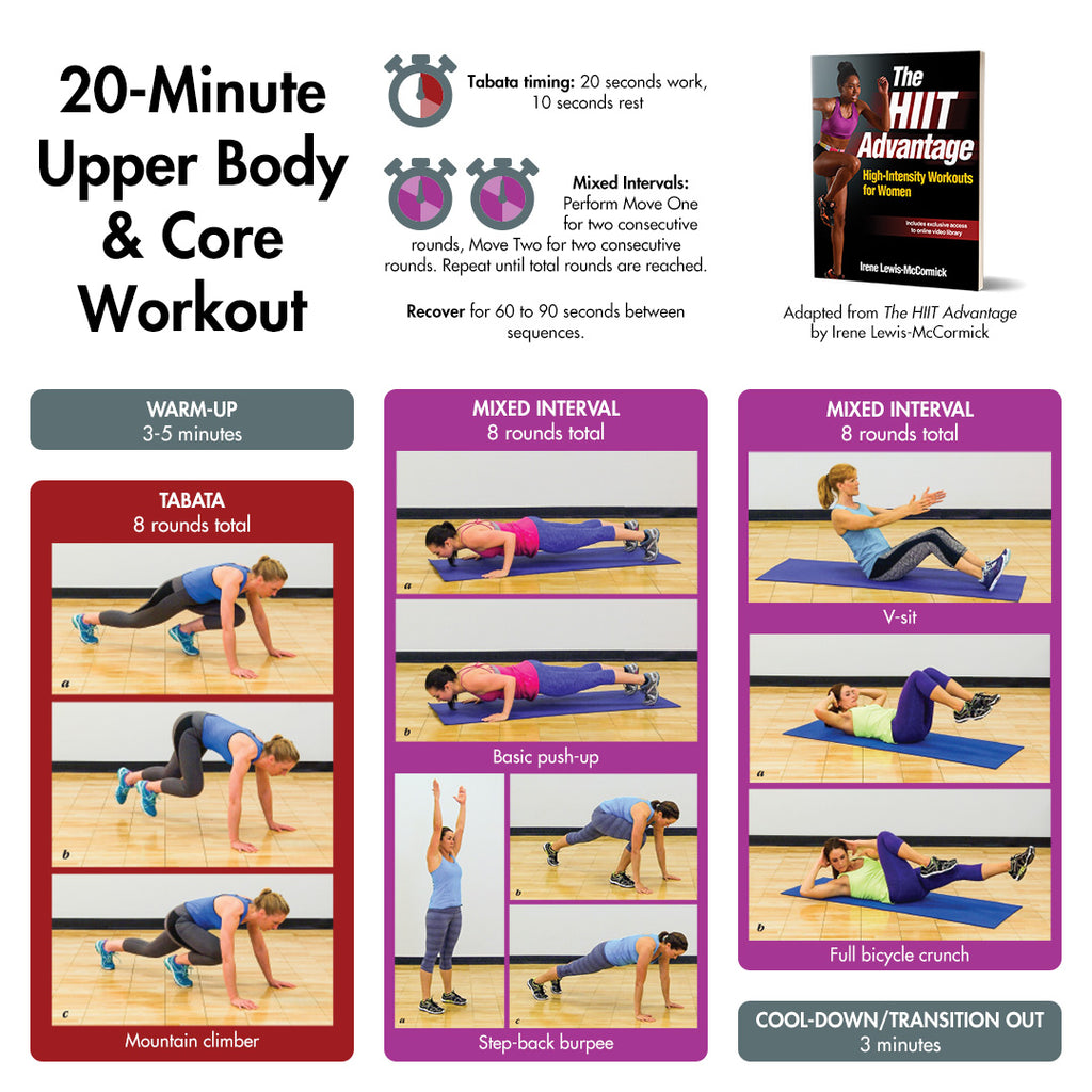 20-Minute Upper Body & Core HIIT Workout