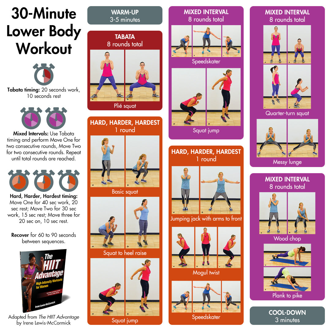 HIIT 30 Minute Lower Body Workout