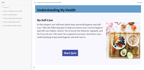 Screen capture from Interactive Web Text