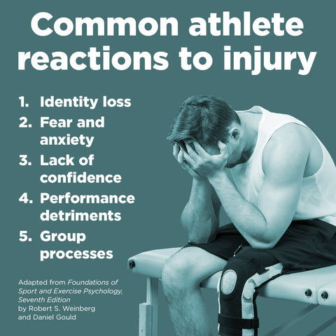 Psychological reactions to exercise and athletic injury