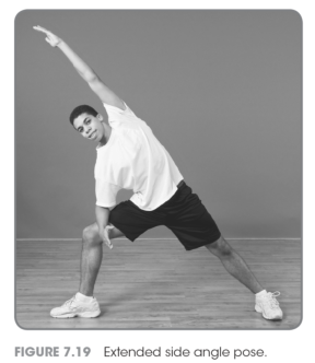 teaching the extended side angle and half moon yoga poses