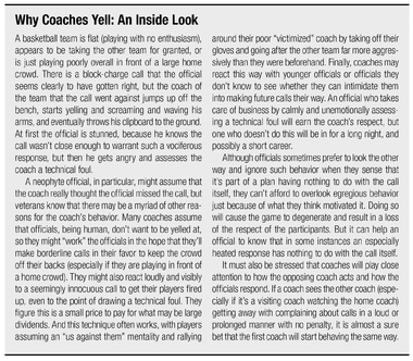 Why Coaches Yell