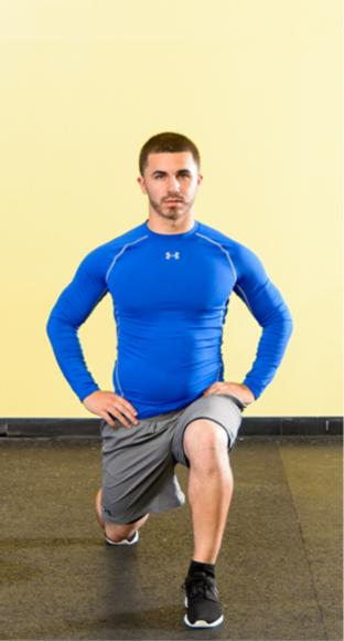 Bodyweight alternating lunge.