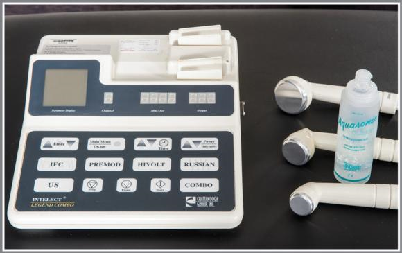 Figure 12.2 Components of an ultrasound unit.