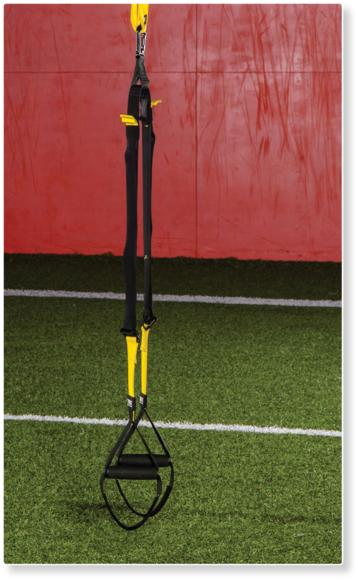 Figure 7.1 Suspension trainer with strap and carabiner.
