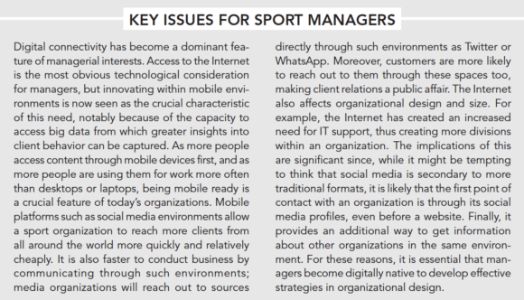 Key issues for sport managers