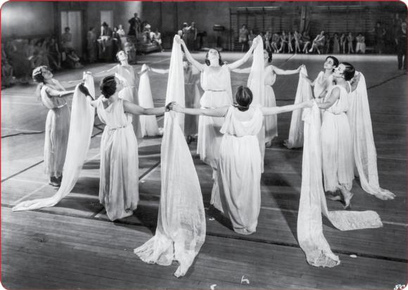 A recreation of a Greek games dance.