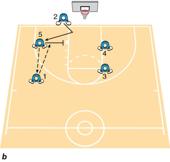 (b) Final movement for the hawk inbounds play.