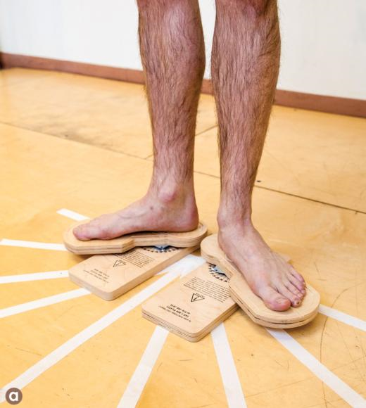 Figure 10.1 Methods of measuring turnout: Rotational discs measure functional turnout; the goniometer measures passive turnout.