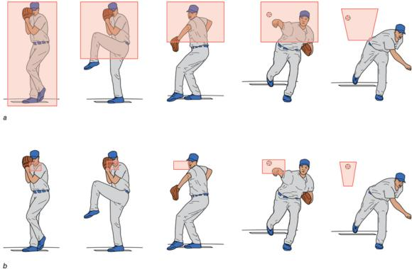 Figure 10.4 Minor League Baseball aggregate visual search cues versus Major League Baseball aggregate visual search cues. Major leaguers demonstrate attention to fewer and more localized visual cues.